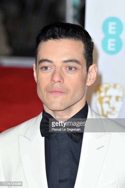 Rami Malek attends the EE British Academy Film Awards at Royal Albert Hall on February 10 2019 in London England