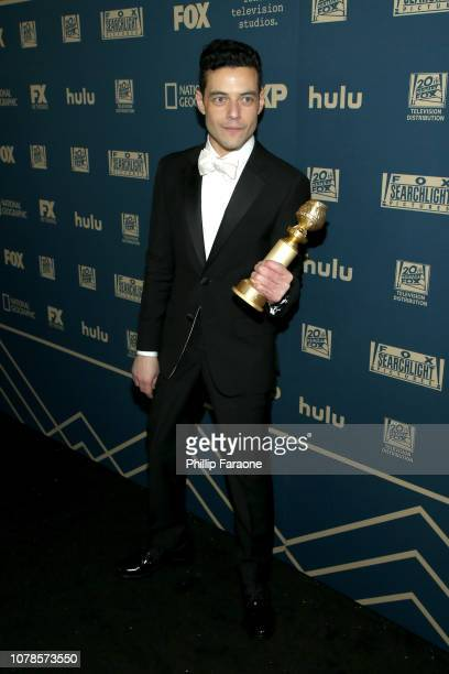 Rami Malek attends the FOX FX and Hulu 2019 Golden Globe Awards After Party at The Beverly Hilton Hotel on January 6 2019 in Beverly Hills California