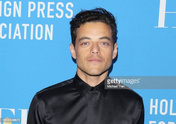 Rami Malek attends the Hollywood Foreign Press Association's Grants Banquet held at The Beverly Hilton Hotel on August 9 2018 in Beverly Hills...