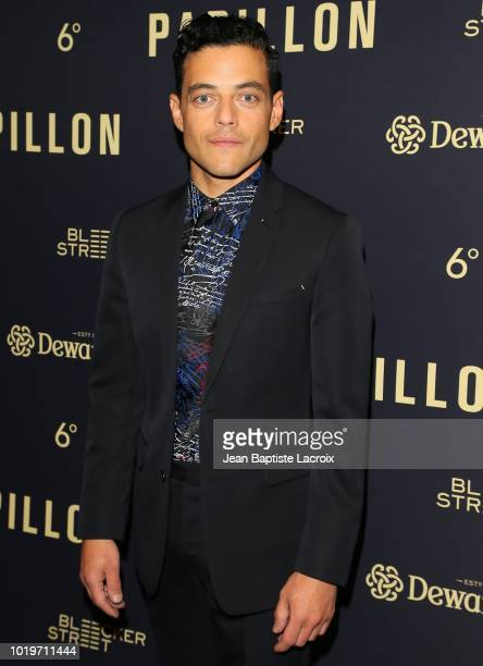 Charlie Hunnam and Rami Malek attend the Los Angeles premiere of Bleecker Street Media's 'Papillon' held at The London West Hollywood on August 19...