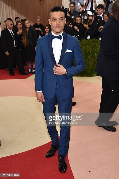 Rami Malek attends the Manus x Machina Fashion In An Age Of Technology Costume Institute Gala at Metropolitan Museum of Art on May 2 2016 in New York...