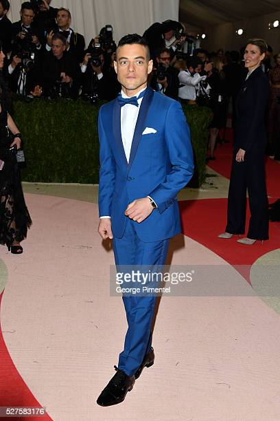 Rami Malek attends the 'Manus x Machina: Fashion in an Age of Technology' Costume Institute Gala at the Metropolitan Museum of Art on May 2, 2016 in...