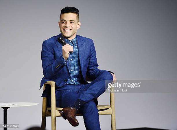 Rami Malek attends the Meet the Actor series to discuss Mr Robot at Apple Store Soho on July 13 2016 in New York City