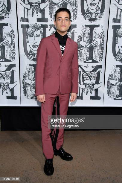 Rami Malek attends the Miu Miu show as part of the Paris Fashion Week Womenswear Fall/Winter 2018/2019 on March 6 2018 in Paris France