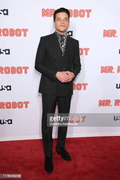 """Rami Malek attends the """"Mr. Robot"""" Season 4 Premiere on October 01, 2019 in New York City."""