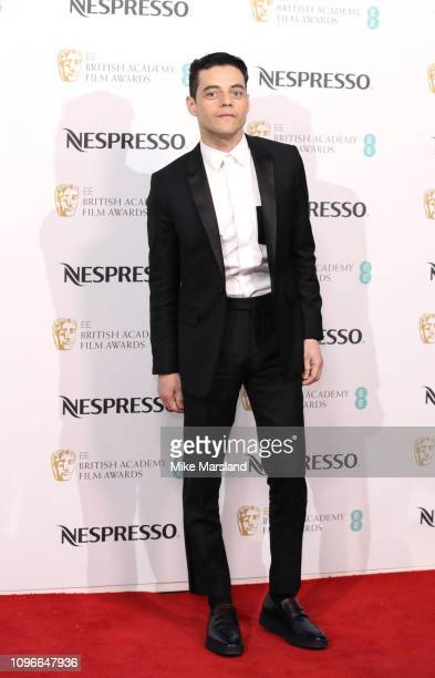 Rami Malek attends the Nespresso British Academy Film Awards nominees party at Kensington Palace on February 9 2019 in London England