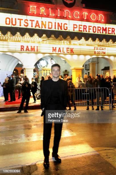 Rami Malek attends the Outstanding Performer Award Honoring Rami Malek during 34th Santa Barbara International Film Festival at Arlington Theatre on...