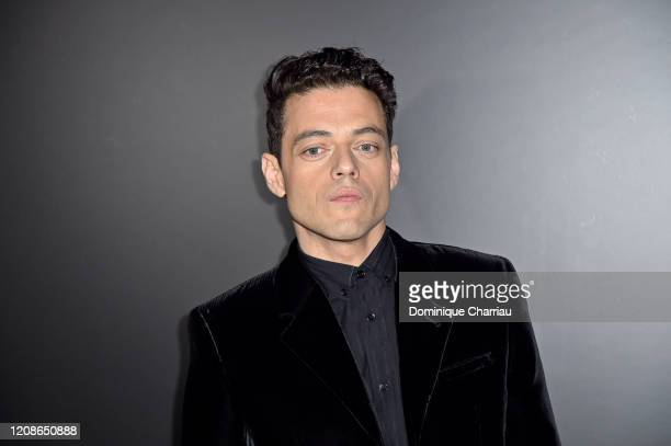Rami Malek attends the Saint Laurent show as part of the Paris Fashion Week Womenswear Fall/Winter 2020/2021 on February 25 2020 in Paris France
