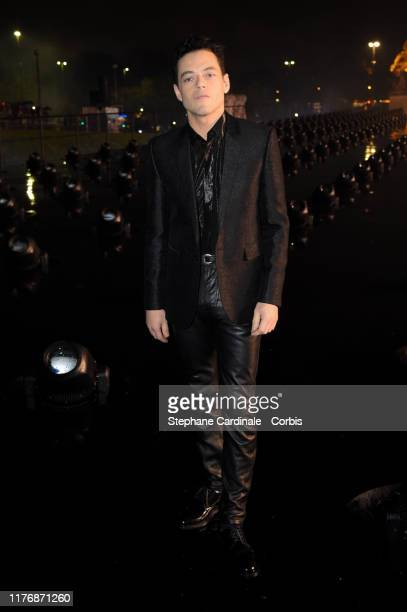 Rami Malek attends the Saint Laurent Womenswear Spring/Summer 2020 show as part of Paris Fashion Week on September 24, 2019 in Paris, France.