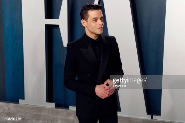 Rami Malek attends the Vanity Fair Oscar Party at Wallis Annenberg Center for the Performing Arts on February 09 2020 in Beverly Hills California