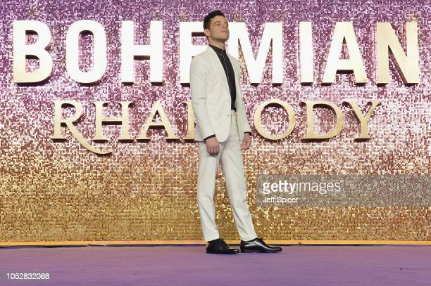 Rami Malek attends the World Premiere of 'Bohemian Rhapsody' at SSE Arena Wembley on October 23 2018 in London England