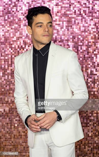 Rami Malek attends the World Premiere of 'Bohemian Rhapsody' at SSE Arena Wembley