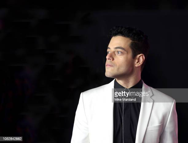 Rami Malek attends the World Premiere of 'Bohemian Rhapsody' at The SSE Arena Wembley on October 23 2018 in London England