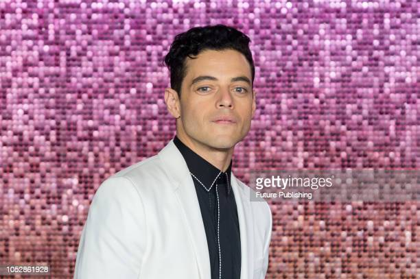 Rami Malek attends the World Premiere of 'Bohemian Rhapsody' at the SSE Arena Wembley in London October 23 2018 in London United Kingdom