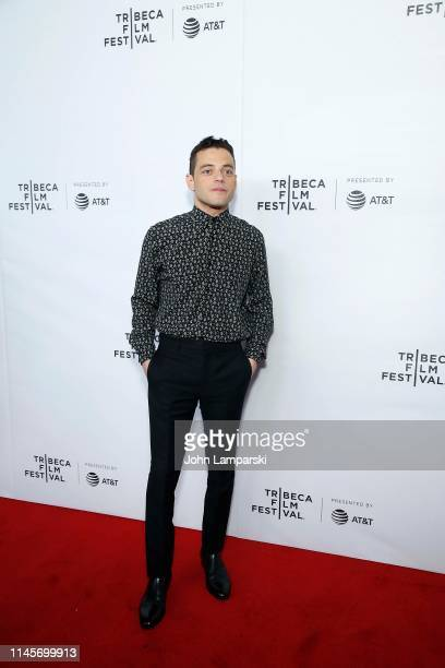 """Rami Malek attends Tribeca Talks - A Farewell To """"Mr. Robot"""" at Spring Studios on April 28, 2019 in New York City."""