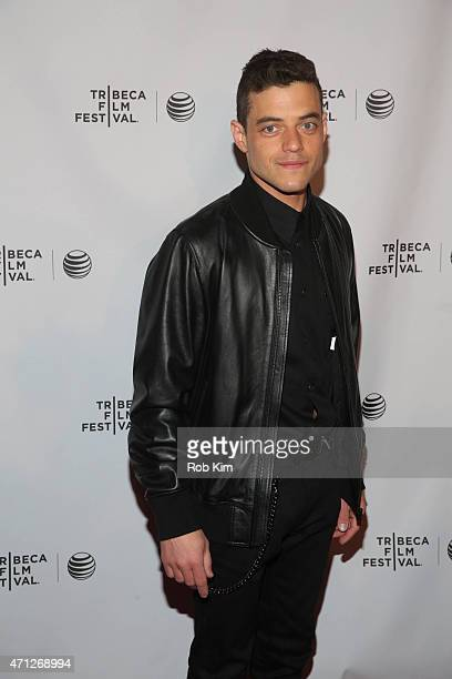 Rami Malek attends Tribeca Talks After The Movie Mr Robot during the 2015 Tribeca Film Festival at Chelsea Bow Tie Cinemas on April 26 2015 in New...