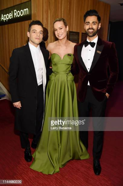 Rami Malek Brie Larson and Hasan Minhaj attend the TIME 100 Gala 2019 Cocktails at Jazz at Lincoln Center on April 23 2019 in New York City