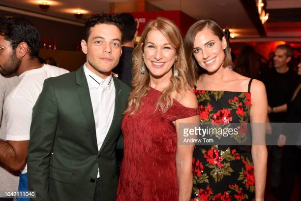 Rami Malek CEO Deborah Dugan and Allison Williams attend as Montblanc And Launch The New RED Collection To Fight AIDS At New York's World Of McIntosh...