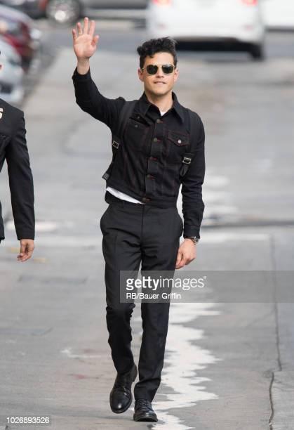 Rami Malek is seen at 'Jimmy Kimmel Live' on September 04 2018 in Los Angeles California
