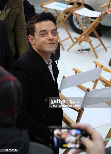 Rami Malek is seen at Times Square on December 04 2019 in New York City