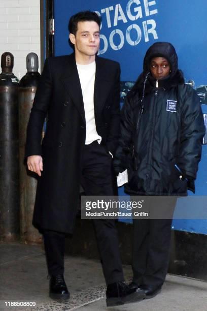 Rami Malek is seen on December 04 2019 in New York City