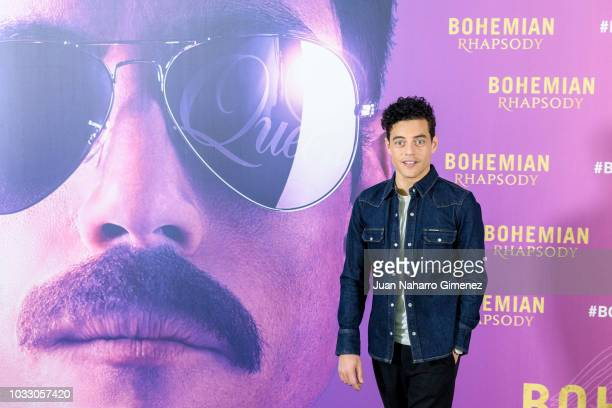 Rami Malek Lee attends 'Bohemian Rhapsody' photocall at Villa Magna Hotel on September 14 2018 in Madrid Spain