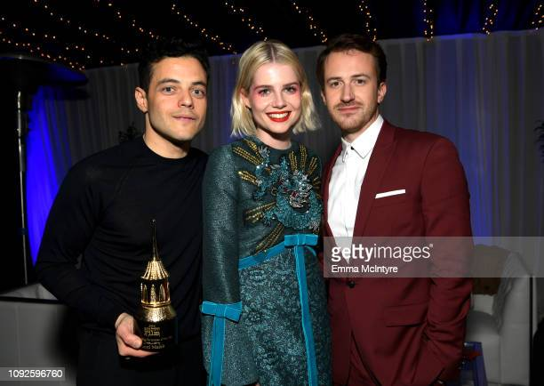 Rami Malek Lucy Boynton and Joseph Mazzello attend the Outstanding Performer Award Honoring Rami Malek during 34th Santa Barbara International Film...