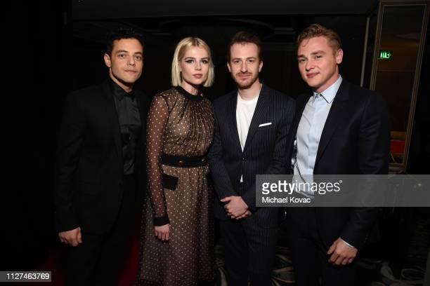 Rami Malek Lucy Boynton Joe Mazzello and Ben Hardy attend AARP The Magazine's 18th Annual Movies for Grownups Awards at the Beverly Wilshire Four...