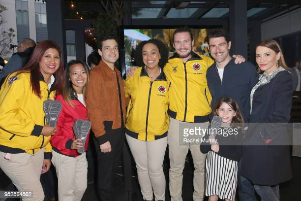 Rami Malek Max Greenfield Lilly Greenfield and Tess Sanchez with City Year AmeriCorps members attend City Year Los Angeles' Spring Break Destination...