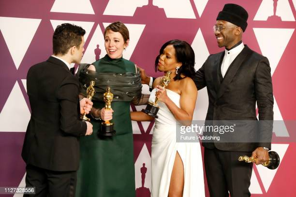 Bohemian Rhapsody Olivia Colman Regina King Mahershala Ali 91st Annual Academy Awards press room at the Dolby Theater in Hollywood California on...