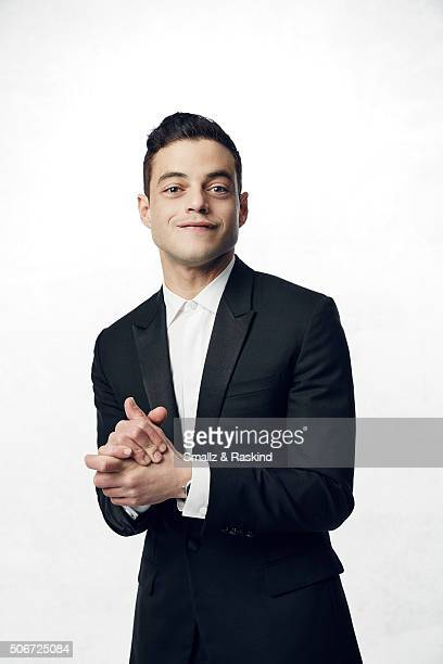 Rami Malek poses for a portrait during the 21st Annual Critics' Choice Awards at Barker Hangar on January 17 2016 in Santa Monica California