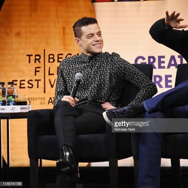 Rami Malek Speaks at Tribeca Talks - A Farewell To Mr. Robot - 2019 Tribeca Film Festival at Spring Studio on April 28, 2019 in New York City.