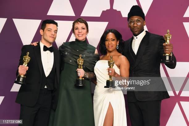 Rami Malek winner Best Actor in a Leading Role award for 'Bohemian Rhapsody' Olivia Colman winner Best Actress award for the film 'The Favourite'...