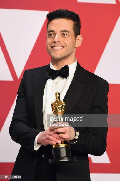 Rami Malek winner Best Actor in a Leading Role award for 'Bohemian Rhapsody'' poses in the press room during at Hollywood and Highland on February 24...