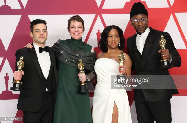 Rami Malek winner Best Actor in a Leading Role award for 'Bohemian Rhapsody' Olivia Colman winner Best Actress award for the film 'The Favourite'...