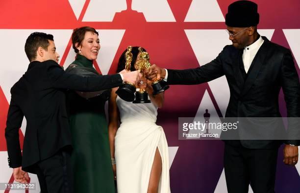 Rami Malek winner of Best Actor for Bohemian Rhapsody Olivia Colman winner of Best Actress for The Favourite Regina King winner of Best Supporting...