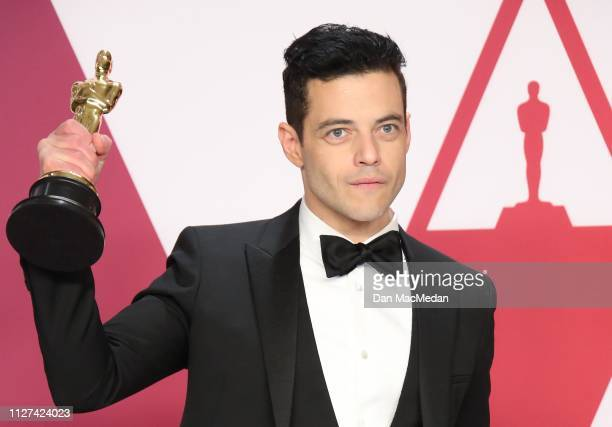 Rami Malek winner of Best Actor for 'Bohemian Rhapsody' poses in the press room at the 91st Annual Academy Awards at Hollywood and Highland on...
