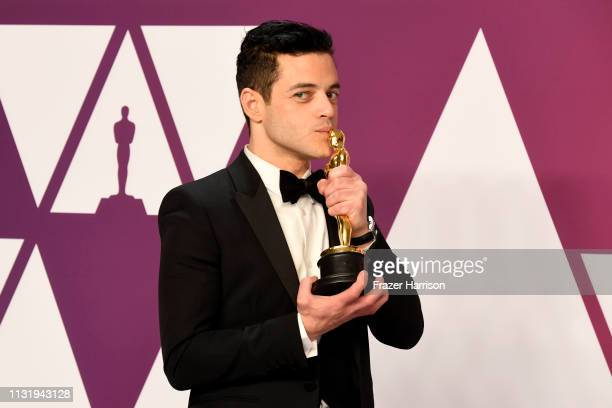 Rami Malek winner of Best Actor for Bohemian Rhapsody poses in the press room during the 91st Annual Academy Awards at Hollywood and Highland on...
