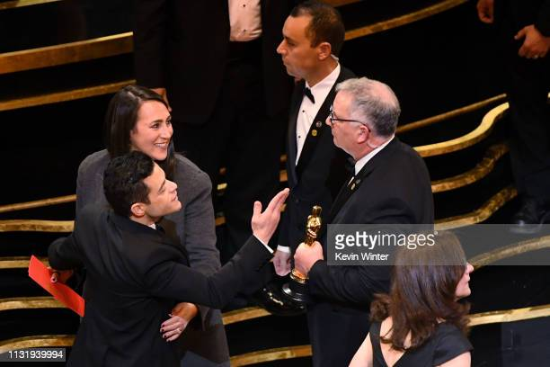 Rami Malek winner of the Actor in a Leading Role award for 'Bohemian Rhapsody' attends the 91st Annual Academy Awards at Dolby Theatre on February 24...