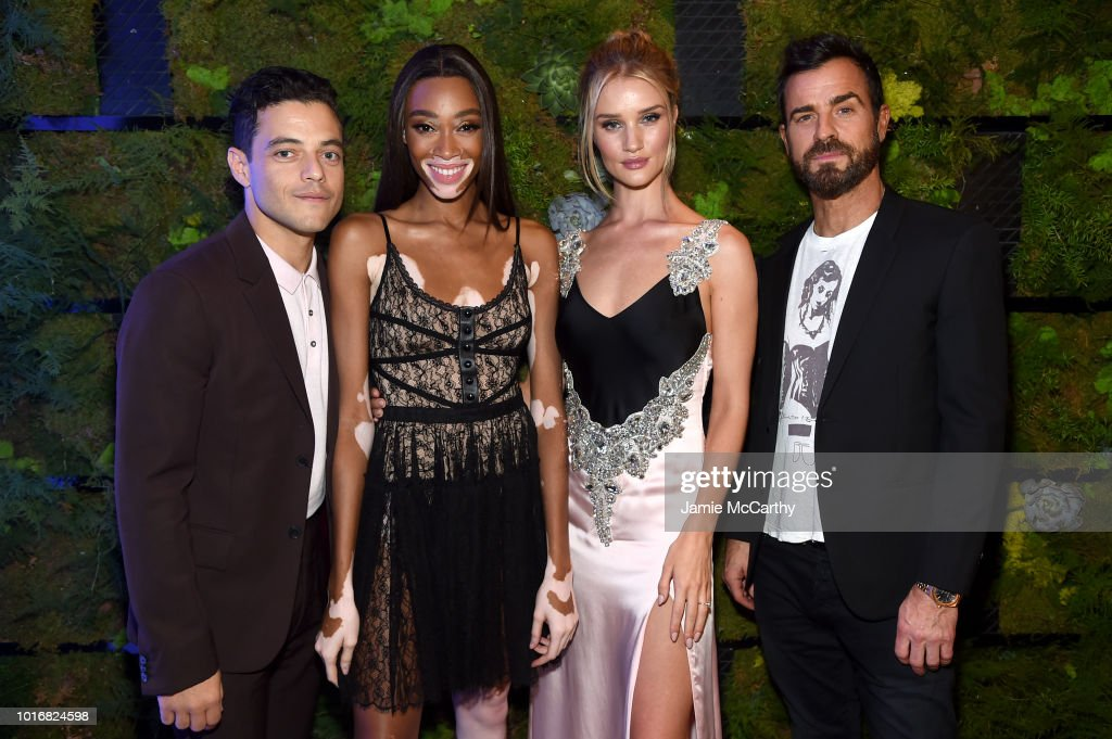 Rami Malek Winnie Harlow Rosie Huntington Whiteley And Justin Theroux Attend The