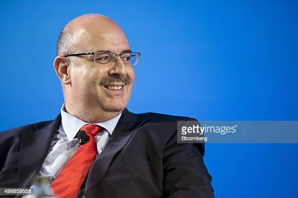 Rami Sharaf chief executive officer of Worldbridge International Group reacts during the Bloomberg Asean Business Summit in Bangkok Thailand on...
