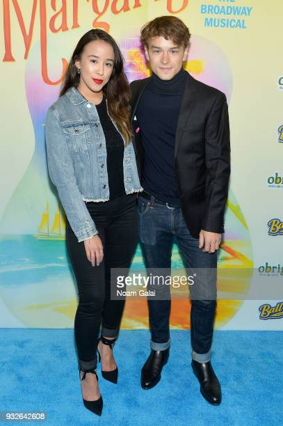Ramian Newton attends the Broadway premiere of 'Escape to Margaritaville' the new musical featuring songs by Jimmy Buffett at the Marquis Theatre on...