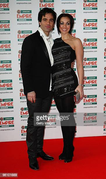 Ramin Karimloo and Mandy Karimloo arrive for the Jameson Empire Film Awards held at the Grosvenor House Hotel on March 28 2010 in London England