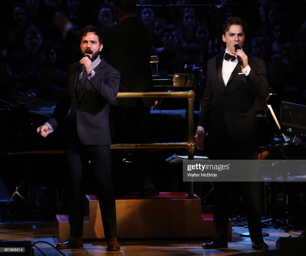 Ramin Karimloo and Ryan Silverman during the Manhattan Concert Productions Broadway Classics in Concert at Carnegie Hall on February 20, 2018 at Carnegie Hall in New York City.