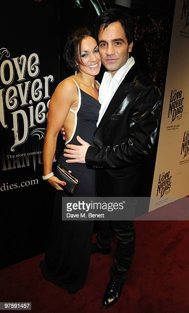 Ramin Karimloo with his wife Mandy attend the afterparty following the world premiere of Love Never Dies at the Old Billingsgate Market on March 9...