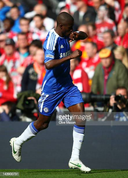 Ramires of Chelsea celebrates as he scores their first goal during the FA Cup with Budweiser Final match between Liverpool and Chelsea at Wembley...