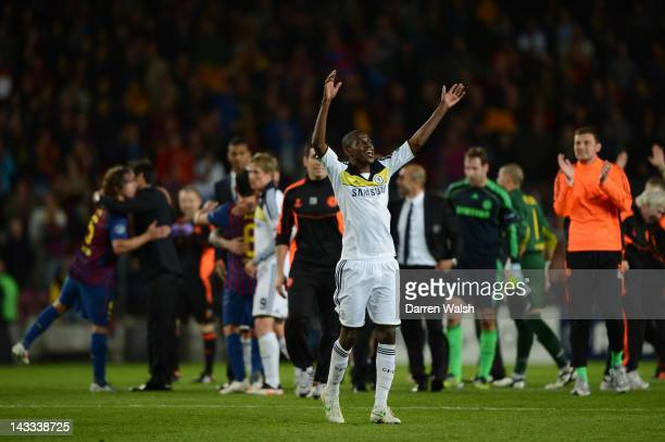 Ramires of Chelsea celebrates at the final whistle during the UEFA Champions League Semi Final, second leg match between FC Barcelona and Chelsea FC...