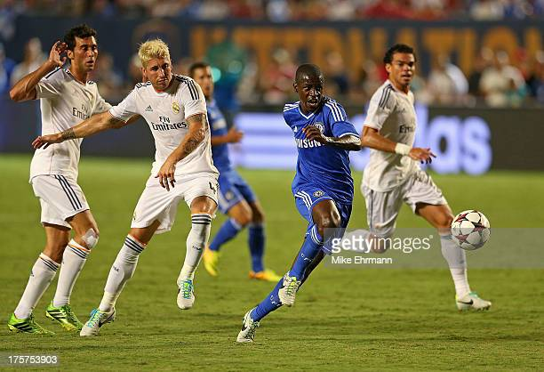 Ramires of Chelsea scores a goal during International Champions Cup Championship match against Real Madrid at Sun Life Stadium on August 7, 2013 in...
