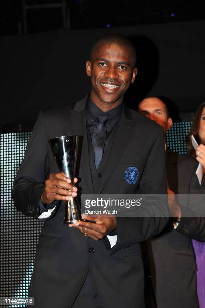 Ramires of Chelsea wins Goal of the Season during the Player of the Year awards at Stamford Bridge on May 19, 2011 in London, England.
