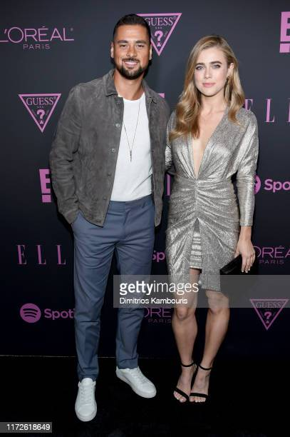 R Ramirez and Melissa Roxburgh attends ELLE Women in Music presented by Spotify and hosted by Nina Garcia Jameela Jamil E Entertainment on September...